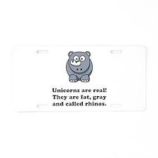 Unicorn Rhino Aluminum License Plate