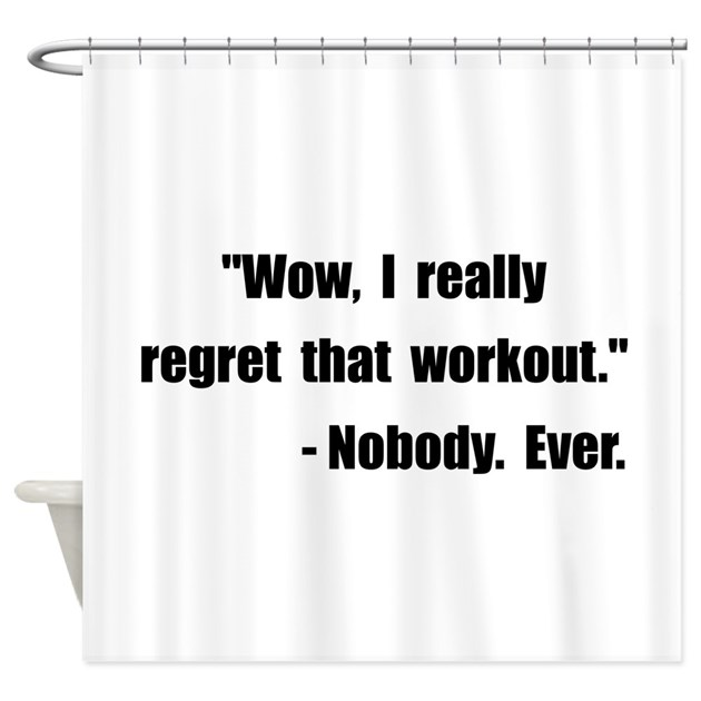 Workout Quote Shower Curtain By Funbabyclothes