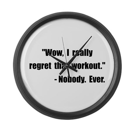 Workout Quote Large Wall Clock