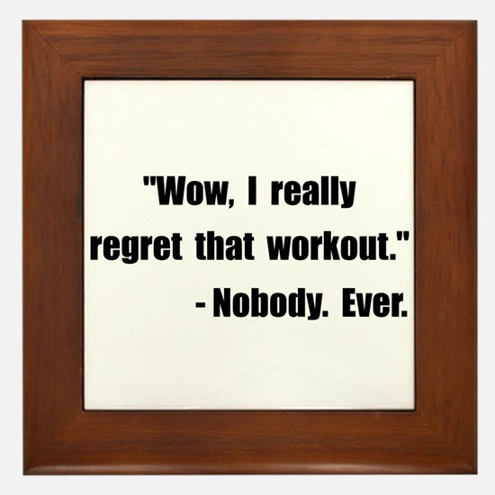 Workout Quote Framed Tile