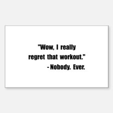 Workout Quote Decal