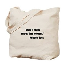 Workout Quote Tote Bag