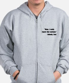 Workout Quote Zip Hoodie