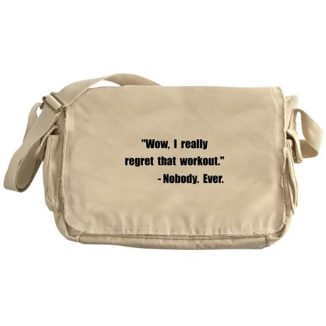 Workout Quote Messenger Bag