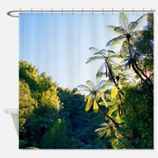 Punga Tree Ferns NZ Shower Curtain