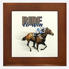 Ride To Win Framed Tile