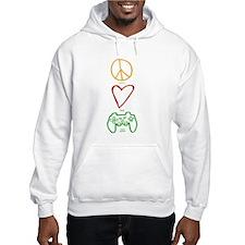 Peace Love Video Games Hoodie