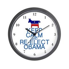 Keep Calm Obama Wall Clock