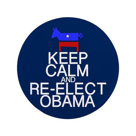 "Keep Calm Obama 3.5"" Button"
