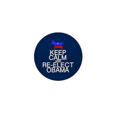 Keep Calm Obama Mini Button (10 pack)