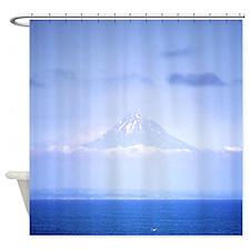 Mt.Egmont Taranaki NZ Blue Shower Curtain