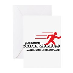 Zombie Outrun You Greeting Cards (Pk of 20)