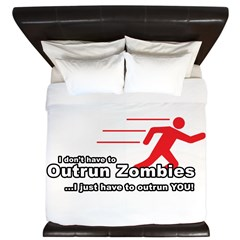 Zombie Outrun You King Duvet