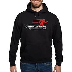 Zombie Outrun You Hoodie (dark)