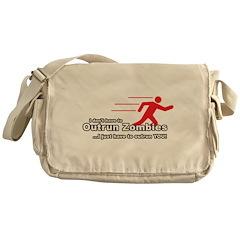 Zombie Outrun You Messenger Bag