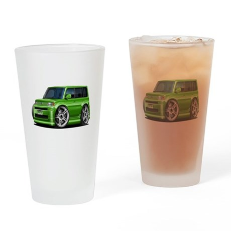 Scion XB Green Car Drinking Glass
