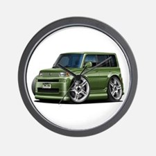 Scion XB Army Green Car Wall Clock