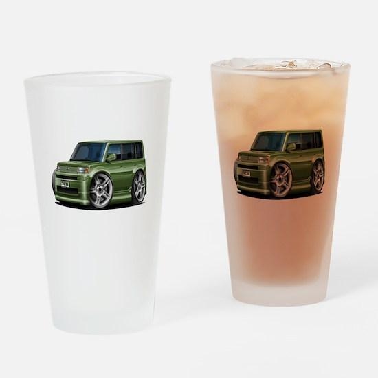 Scion XB Army Green Car Drinking Glass
