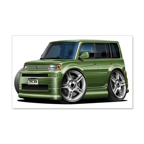 Scion XB Army Green Car 22x14 Wall Peel