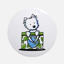 09 Earth Day Westie Ornament (Round)
