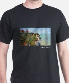 Monet Painting, Cliff at Dieppe, T-Shirt