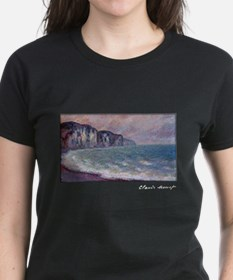 Monet Painting, Cliff at Pourville, Tee