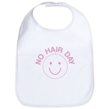 No Hair Day Pink Bib