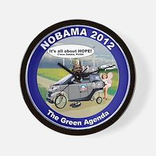 Green Agenda Wall Clock