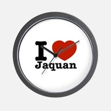 I love Jaquan Wall Clock