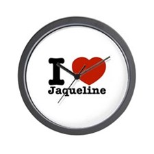 I love Jaqueline Wall Clock