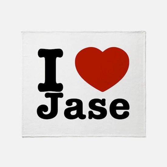 I love Jase Throw Blanket