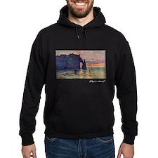 Monet Painting, Etretat, Hoodie