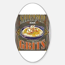 Cute Shrimp and grits Sticker (Oval)