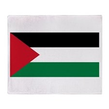 Palestine Flag Throw Blanket