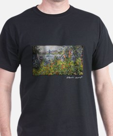 Monet Painting, Flowers at Vetheuil, T-Shirt