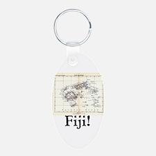 Fiji Map Keychains