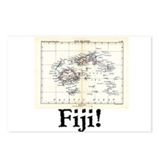 Fiji Map Postcards (Package of 8)