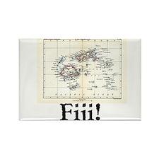 Fiji Map Rectangle Magnet