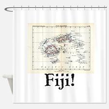 Fiji Map Shower Curtain