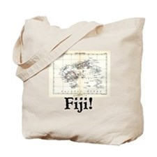 Fiji Map Tote Bag