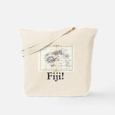 Fiji Map Tote Bag