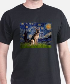 8x10-Starrynight-GShep2 T-Shirt