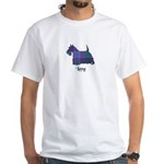 Terrier - Lang White T-Shirt
