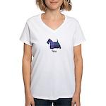 Terrier - Lang Women's V-Neck T-Shirt