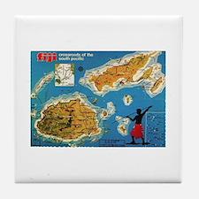 Vintage Fiji Tile Coaster