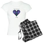 Heart - Lang Women's Light Pajamas