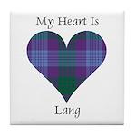 Heart - Lang Tile Coaster
