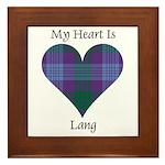 Heart - Lang Framed Tile