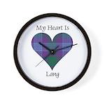 Heart - Lang Wall Clock