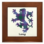 Lion - Lang Framed Tile